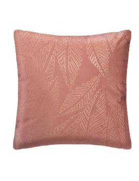 Coussin en velours rose et or