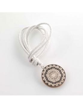Embrasse ronde à corde blanche