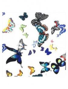 Tissu M1 non feu imprimé papillons colorés