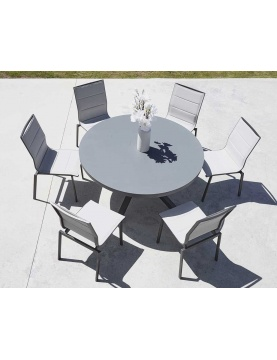 Salon de Jardin avec Table Ronde