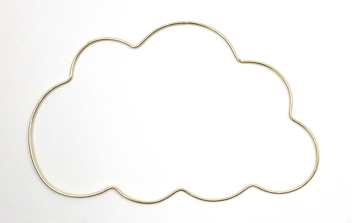 """décoration murale """"nuage"""" (doré) - homebain : vente en ligne"""