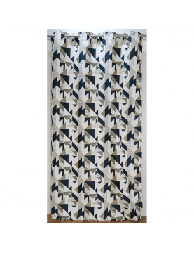 Cortina de mobiliario de Jacquard motivo geométrico 140 x 260 cm