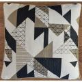 Housse de coussins jacquard motif géométrique (Lin)