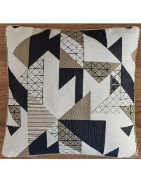 Housse de coussins jacquard motif géométrique