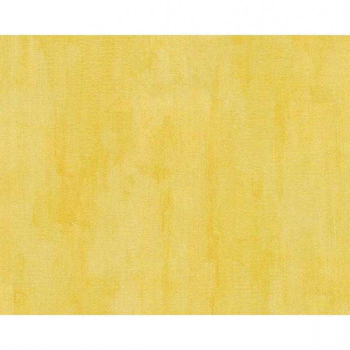 Papier peint uni effet marbré et délavé (Jaune)