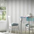 Papier peint à rayures bicolores (Gris clair)