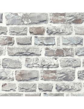 Papier peint imitation brique en pierre
