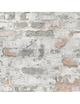 Papier peint imprimé briques usées Berlin
