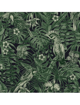 Papier peint imprimé cacatoes jungle