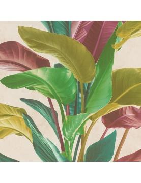 Papier peint motifs feuillages