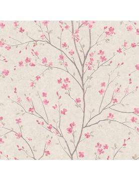 Papier peint imprimé fleur de cerisier