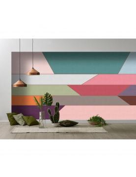Vue panoramique géométrique et colorée