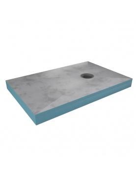 Receveur de douche surélevé à bonde carrée