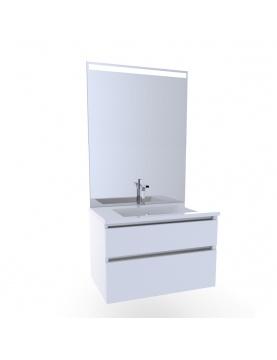 Meuble salle de bain avec vasque (80 cm)