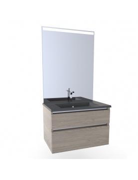 Meuble salle de bain avec vasque colorée