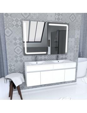 Ensemble de meubles avec vasques et miroirs led intégrée
