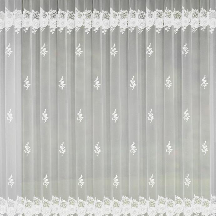 Rideau grande largeur à galon fronçeur (Blanc)