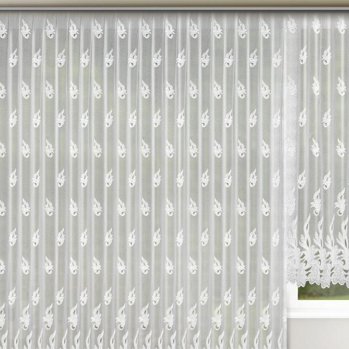 Rideau à galon fronçeur grande largeur (Blanc)