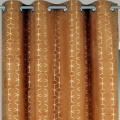 Rideau en velours motifs géométriques dorés (Safran)