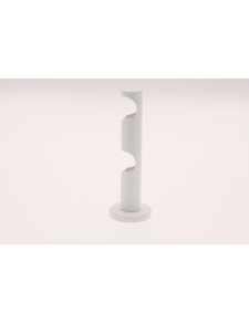 Par de Soportes Dobles para Pared ø 20 mm (Blanco)