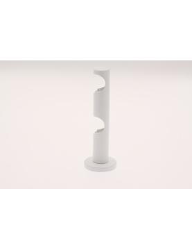 Wandhalter für 2 Gardinenstangen ø 20mm (Weiß)