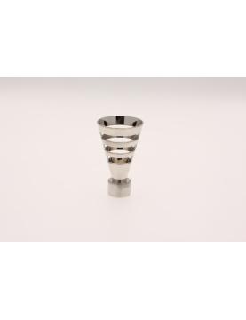 Ansatzstück Kelchformig für Gardinenstangen ø 20mm (Chrom Matt)