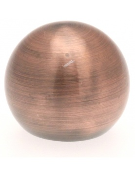 Ansatzstück Kreisförmig für Gardinenstangen ø 20mm (Kupfer)