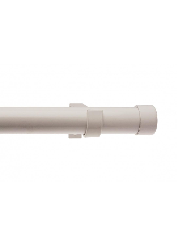 Kit tringle complet bouchon 160-300cm (Blanc laqué)