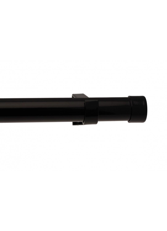 Kit tringle complet bouchon 160-300cm (Noir laqué)
