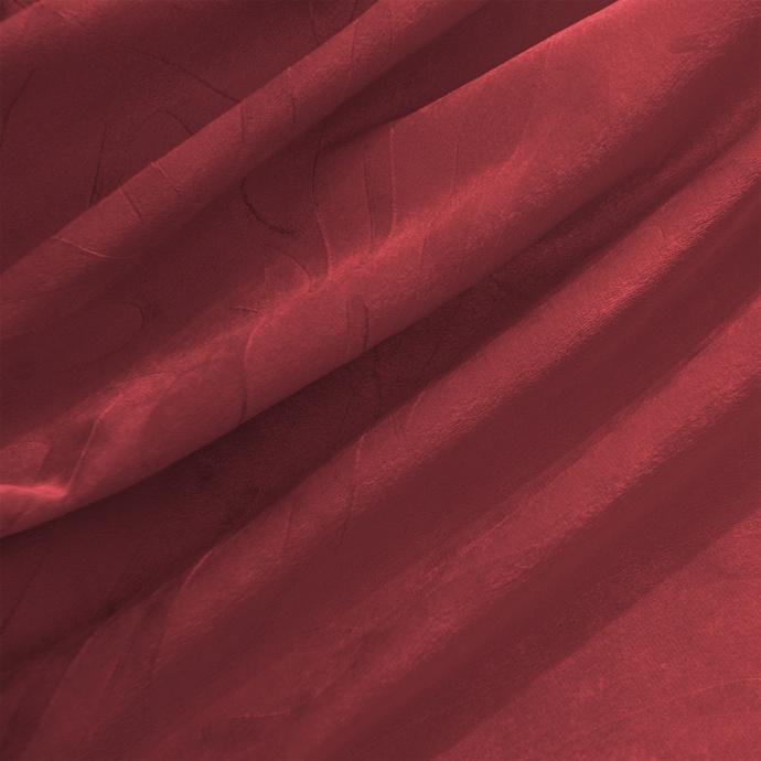 Paire de rideaux en velours et motifs frappés (Bordeaux)