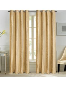 Paire de rideaux en velours et motifs frappés