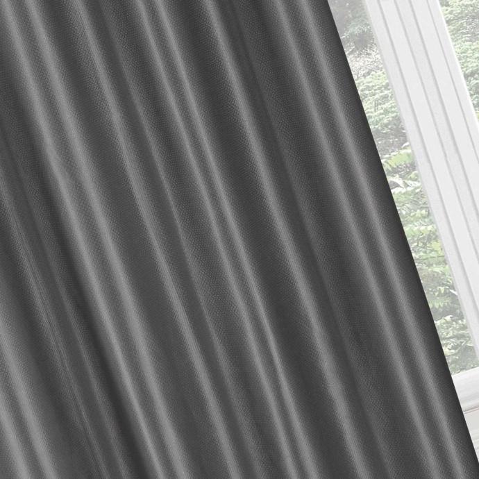 Paire de rideaux occultants effet maille (Anthracite)