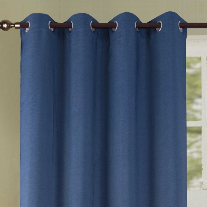 Rideau occultant coloré (Bleu)