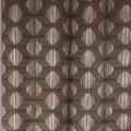 Rideau tamisant aux impressions géométriques (Taupe)