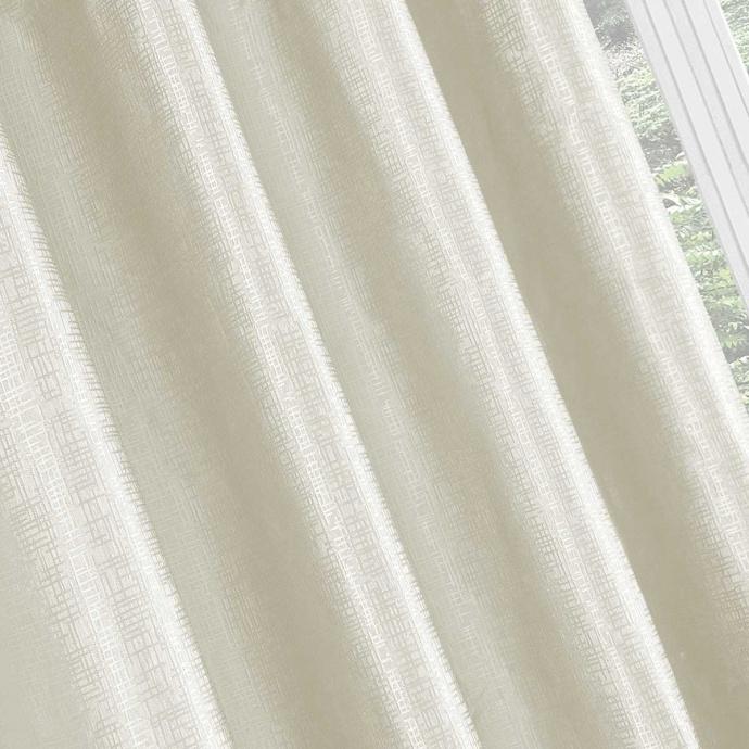 Paire de rideaux obscurcissantes effet croisillons (Ecru)