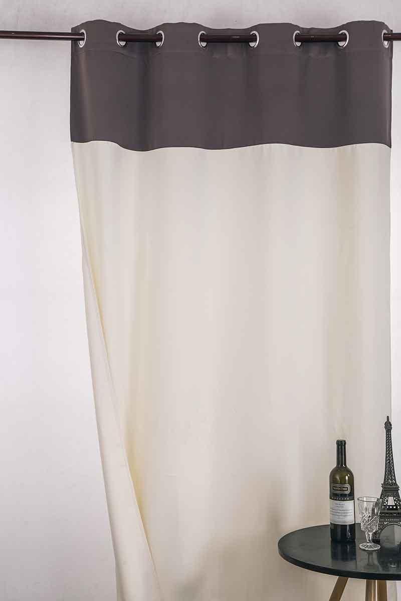 Rideau Occultant Bicolore (TAUPE ET BLANC)