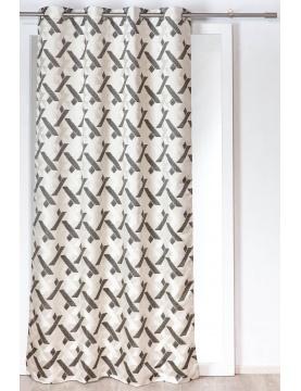 Rideau jacquard aux motifs contemporains 140x260 cm