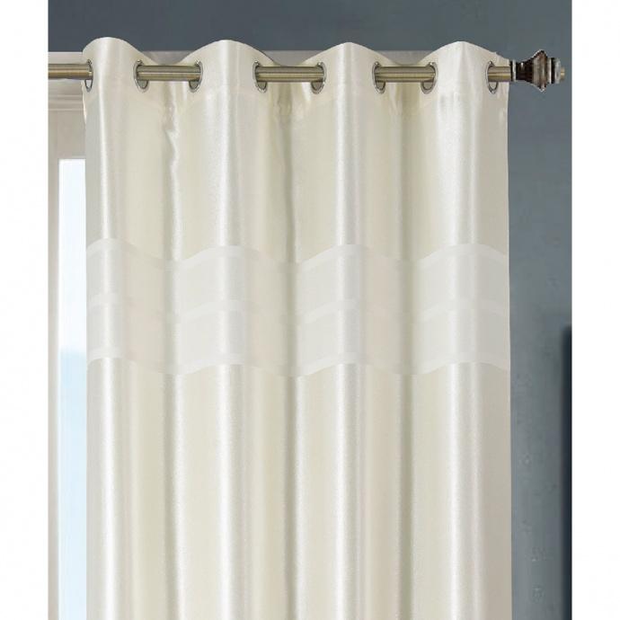 Paire de rideaux occultants style marbre (Blanc)