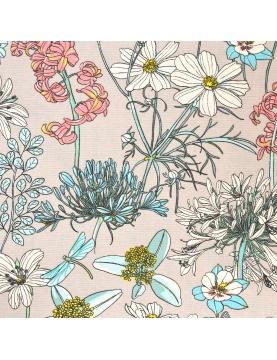 Tissu imprimé aux notes fleuries