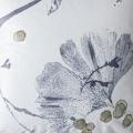 Coussin déhoussable velours impressions japonissantes (Bleu Gris)