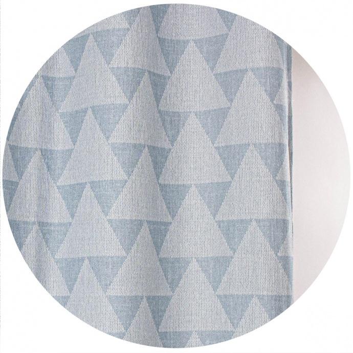 Cortina de Jacquard espíritu escandinavo (Azul)