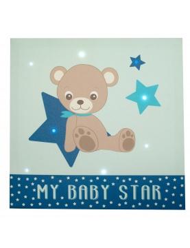 Toile lumineuse scintillante BABY STAR