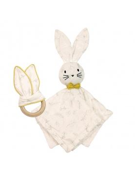 Box Doudou et Anneau de dentition Leafy Bunny