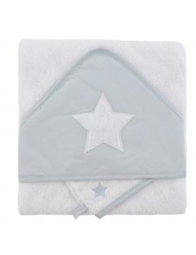 Coffret sortie de bain brodée + gant étoile