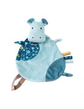 Doudou attache sucette hippo