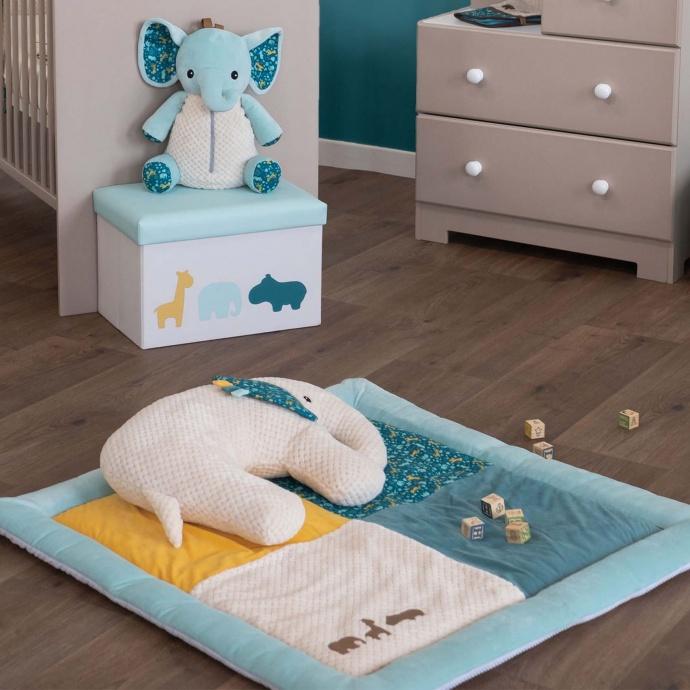 Coussin d'activités cale-bébé (Multicolore)