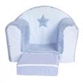 Fauteuil club convertible Diego (Bleu)