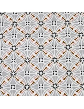 Tissu enduit imprimé capucines