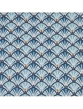 Tissu enduit imprimé géométrie arrondie