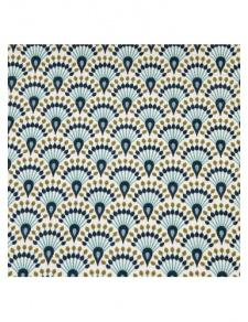 Tissu enduit à motifs géométriques colorés